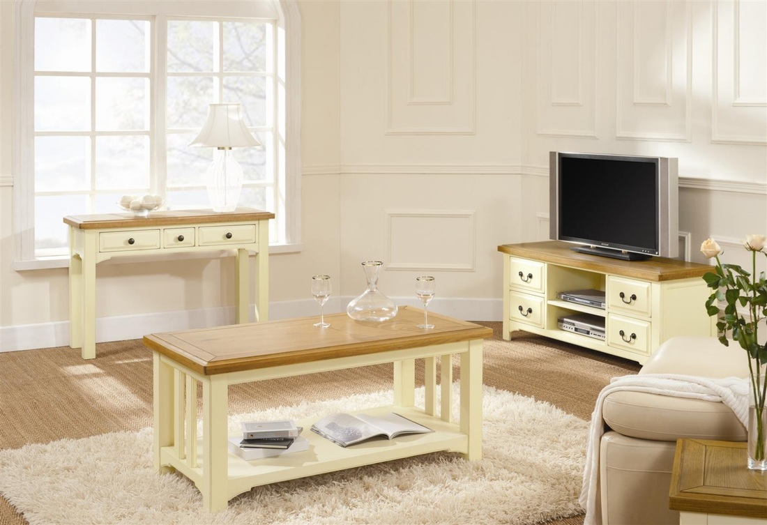 Savannah living and dinning room cooks furnishings - White wooden living room furniture ...