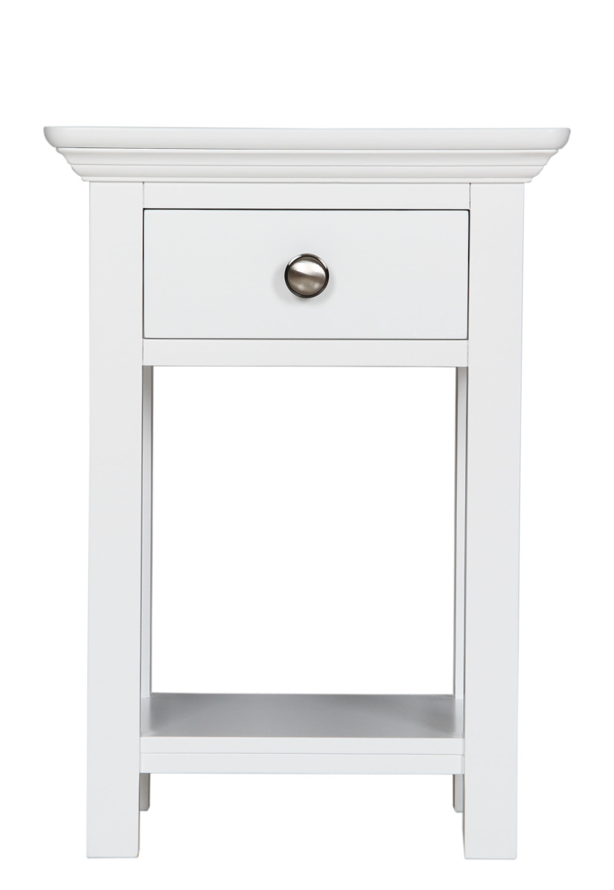 Chateau White Painted Small Round Side Table